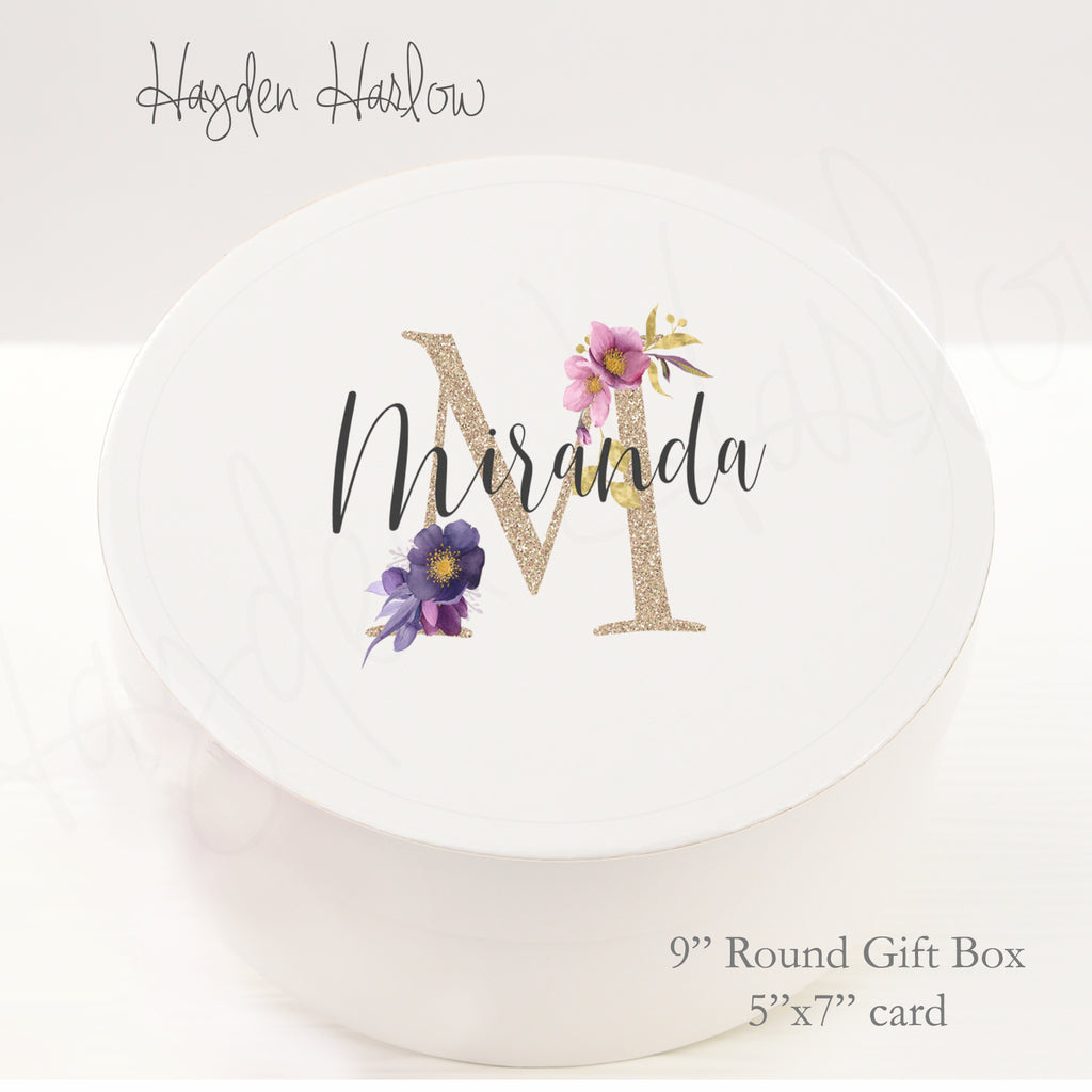 "9.5"" Round Gift Box - Customized  - DAYDREAM - Hayden Harlow"