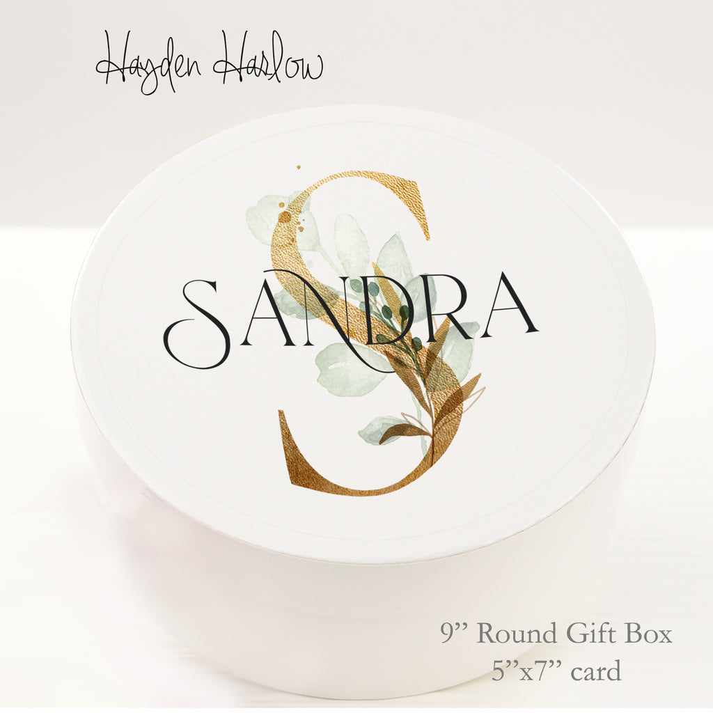 "9.5"" Round Gift Box - Customized  - GOLDEN AGE - Hayden Harlow"