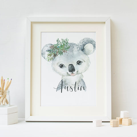 Koala Bear - BOY - Customizable Digital Download - Hayden Harlow