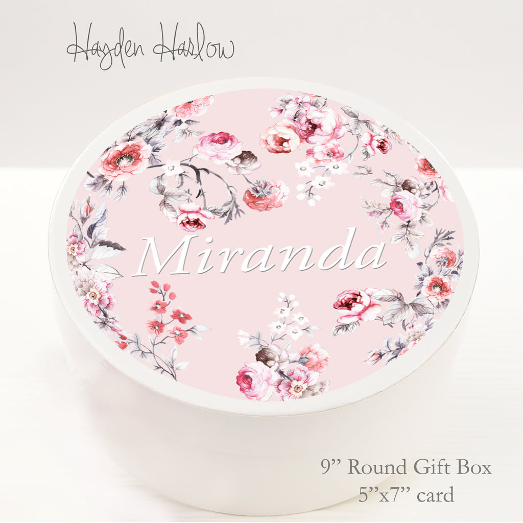 "9.5"" Round Gift Box - Customized  -ROMANCE - Hayden Harlow"