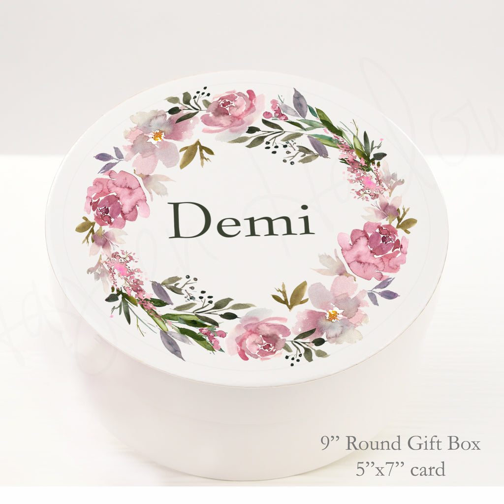 "9.5"" Round Gift Box - Customized  - COVENTRY - Hayden Harlow"