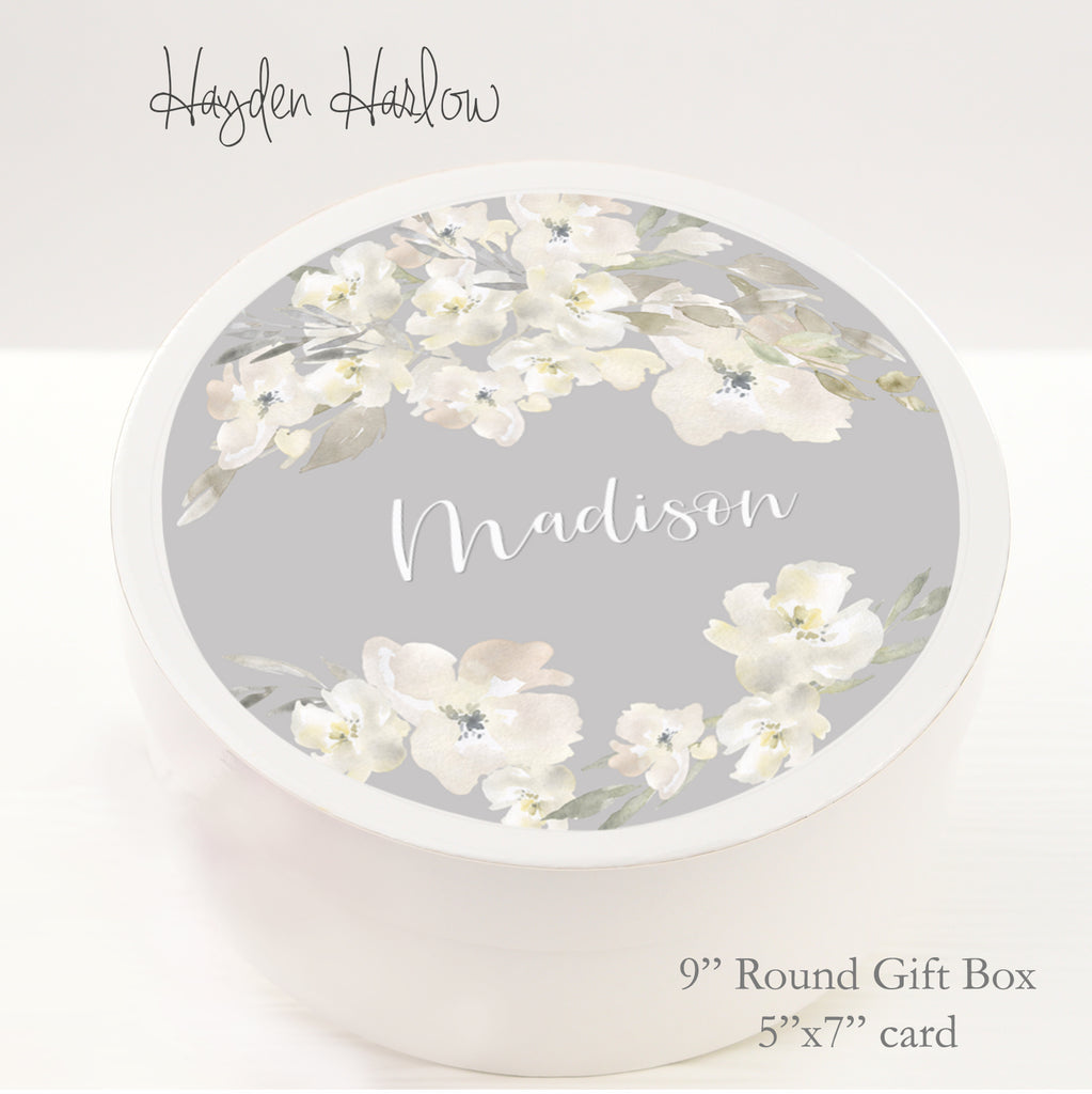 "9.5"" Round Gift Box - Customized  - SERENA - Hayden Harlow"