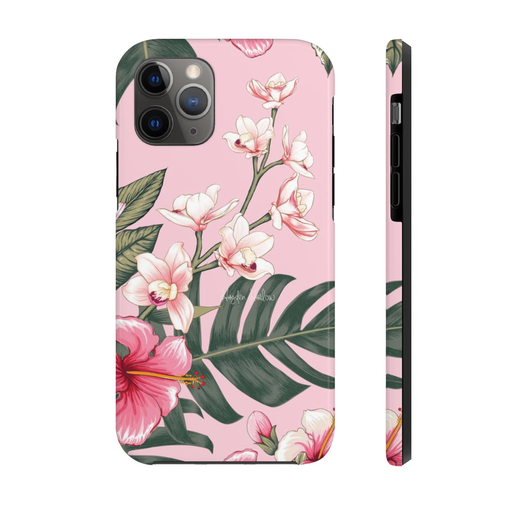 PINK HIBISCUS Case Mate Tough Phone Case - Hayden Harlow