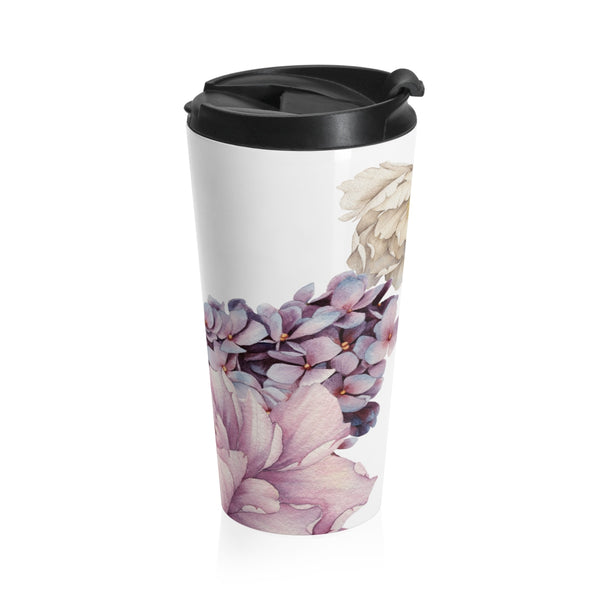 BLOOMS - 15 oz. Stainless Steel Travel Mug - Hayden Harlow