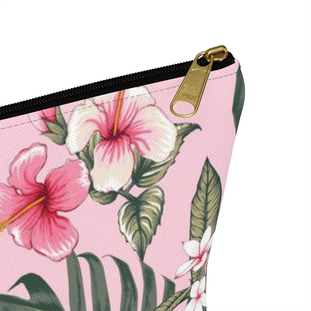 PINK HIBISCUS - Makeup and Accessories pouch - Hayden Harlow