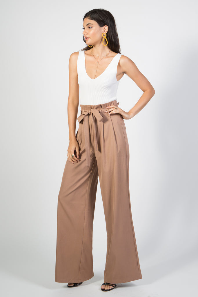 High Waisted Wide Leg Pant - Rare Lilie
