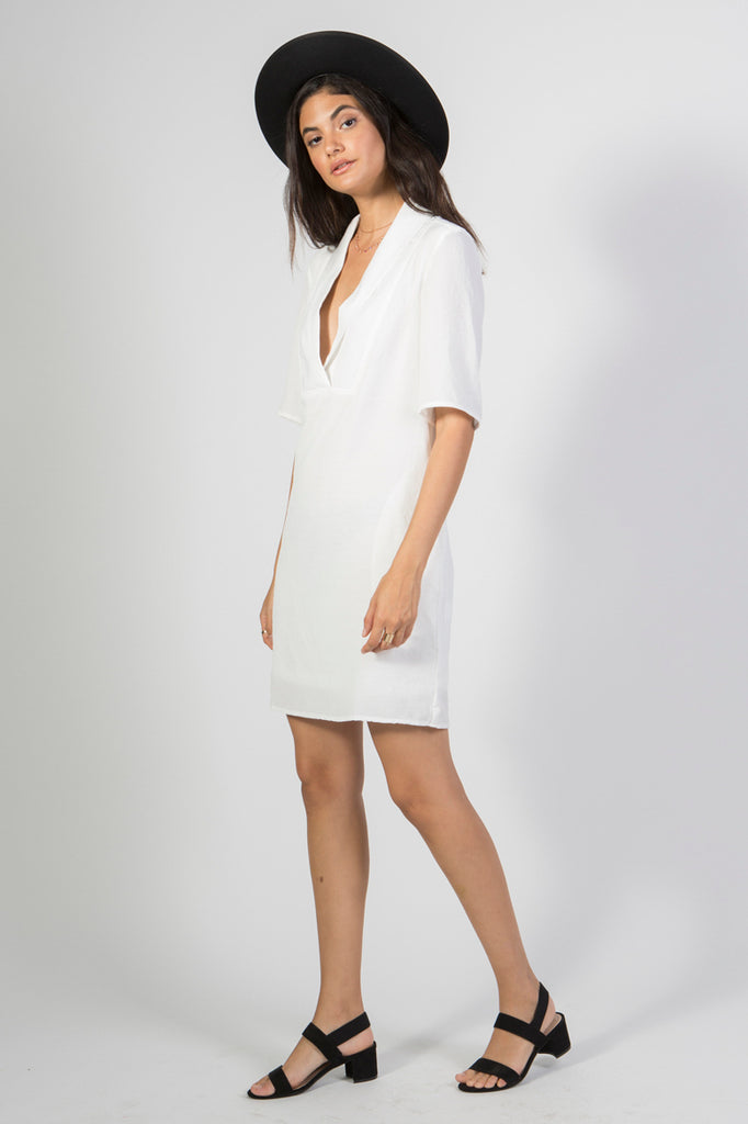 Shawl Collar Shift Dress - Rare Lilie
