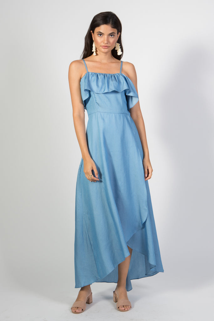 Denim Maxi Dress - Rare Lilie
