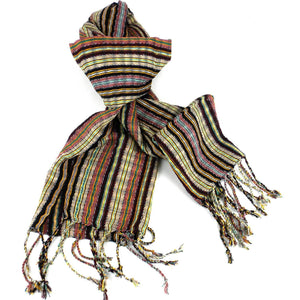 San Antonio Scarf - Burgundy. Handwoven high quality cotton