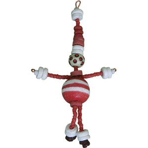Recycled Glass Bead Santa Ornament