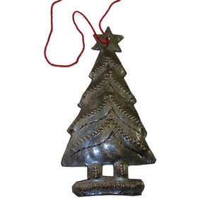 Tree Design Steel Drum Ornament