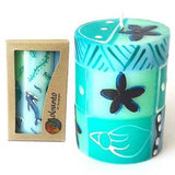 Hand-Painted African Pillar Candle - Multiple Designs