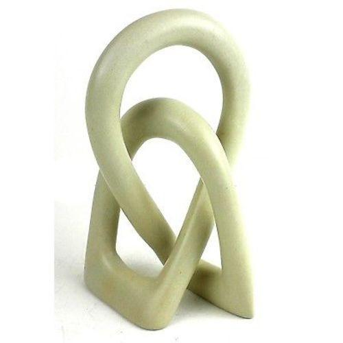 Natural Soapstone 6-inch Lover's Knot Handmade and Fair Trade