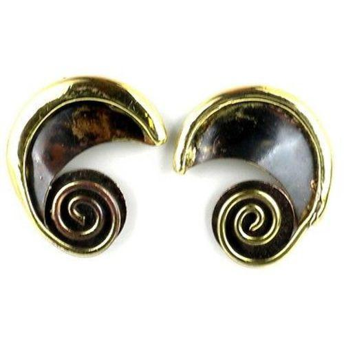 Evolution Brass Post Earrings Handmade and Fair Trade