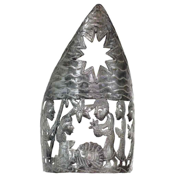 Tabletop Nativity Scene with Candle Holder (13