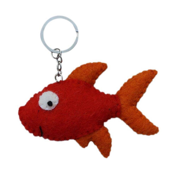 Felt Gold Fish Key Chain