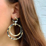 Earrings: Acetate and Stainless Steel 1