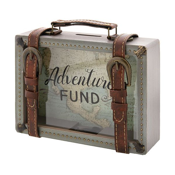 Adventure Fund Wooden Coin Bank