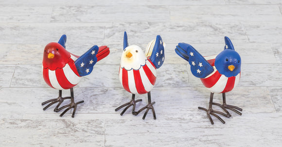 Americana Decorative Bird Figurine