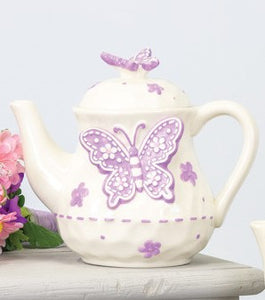 Decorative Ceramic Butterfly Teapot