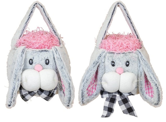 Sock Hop Plush Easter Bunny Basket