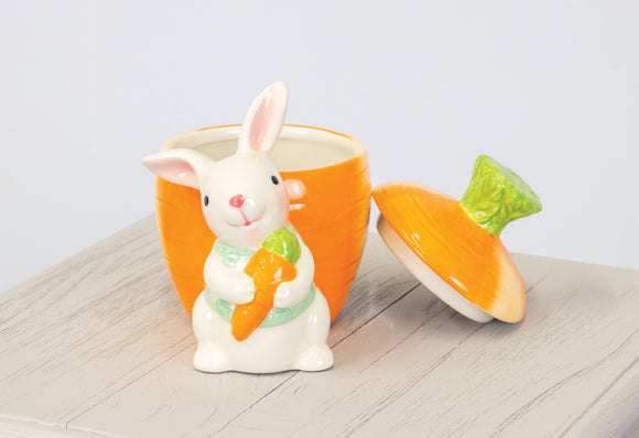 Easter Bunny Ceramic Candy Jar