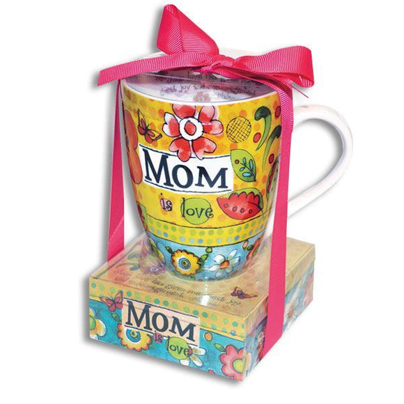 Ceramic Mug and Notepad Gift Set - Mom is Love