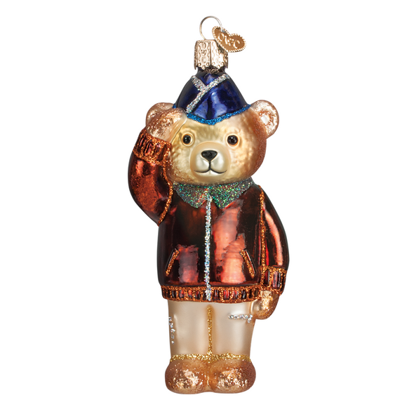 Hand-Blown Glass Christmas Ornament - U.S. Air Force Bear