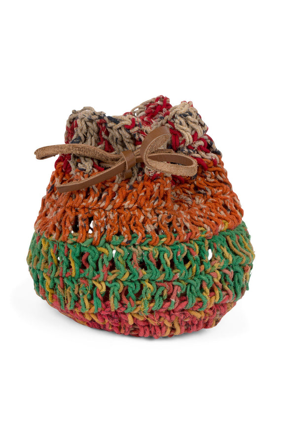 Crocheted Sari Gift Bag