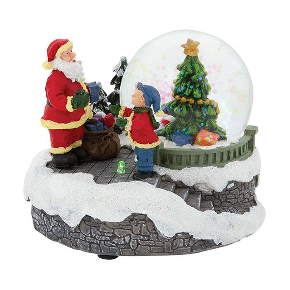 LED Christmas Scene Snowglobe - Santa Presents