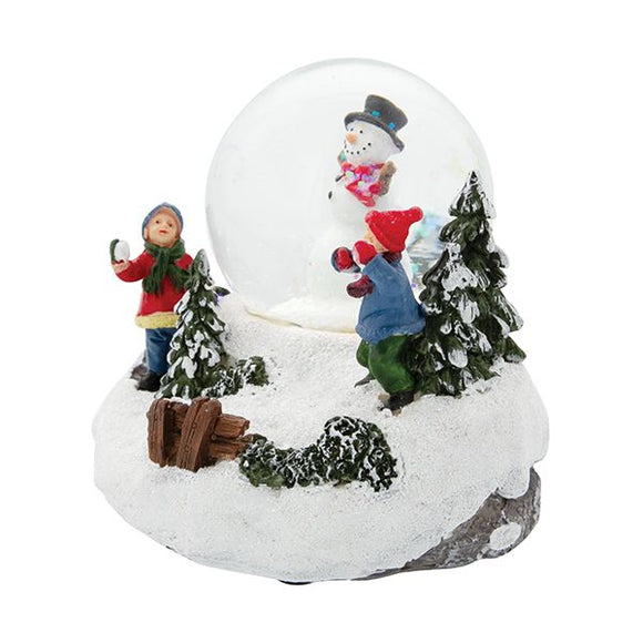 LED Christmas Scene Snowglobe - Snowball Fight