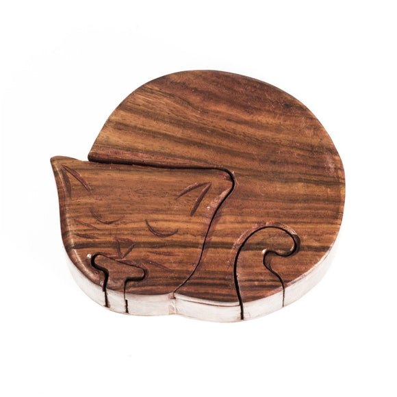 Sleeping Cat Puzzle Box