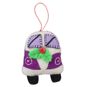 Purple Van Felt Ornament