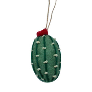 Short Cactus Felt Ornament (Sage Color)