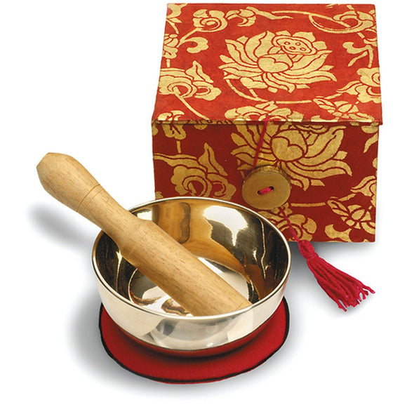 Meditation Bowl Box: 3'' Red Lotus