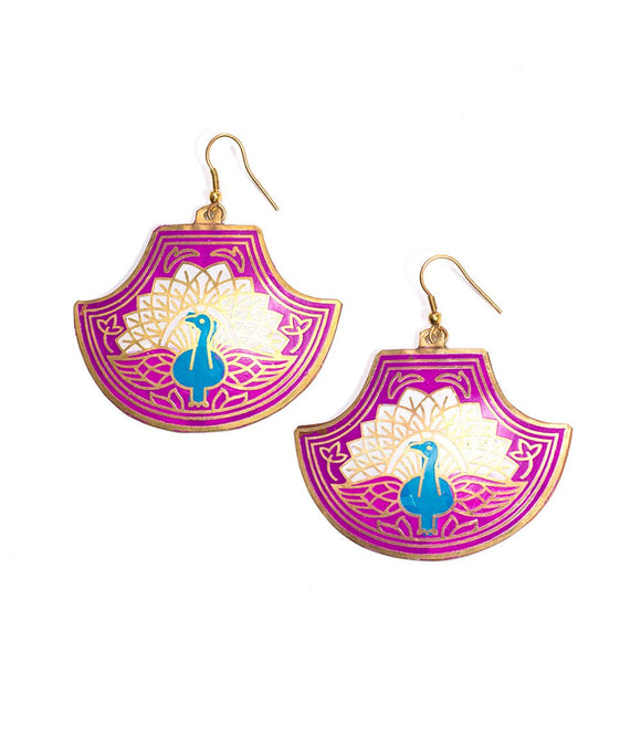 Saraswati Peacock Earrings