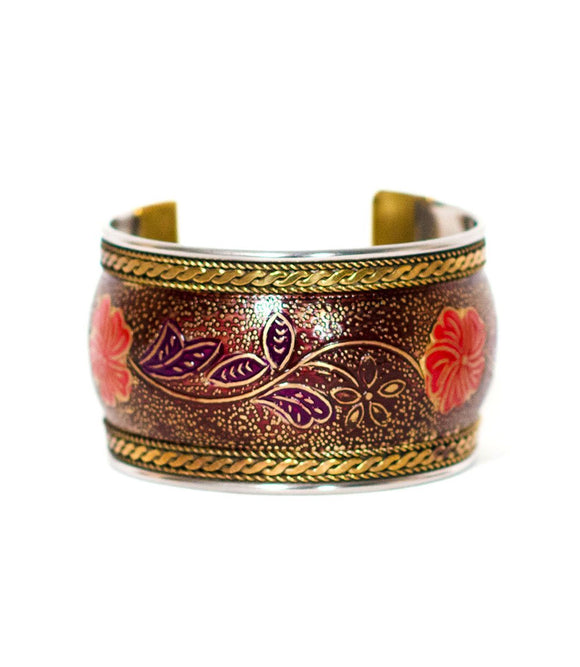 Thick Bollywood Cuff - Poppy