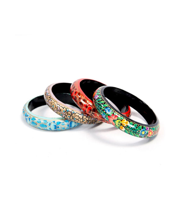 Paper Mache Bangles (Set of 4)