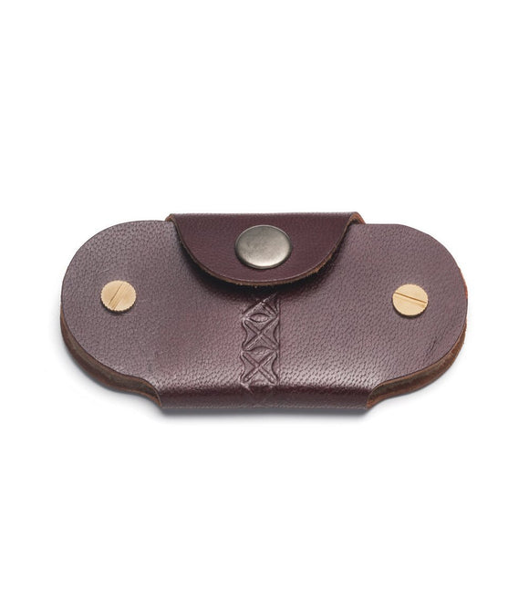 Leather Key Holder - Brown