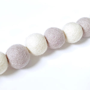 Felt Ball Garland: 1.5 metre / 3cm Felt Ball