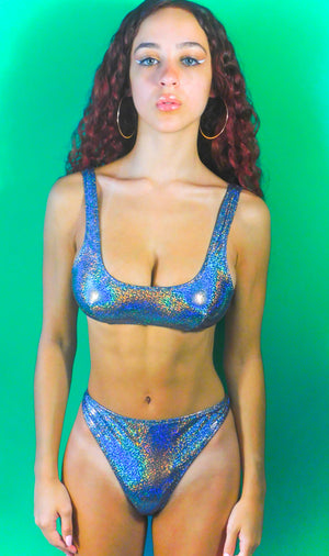 OUTERSPACE SCOOP NECK BIKINI TOP