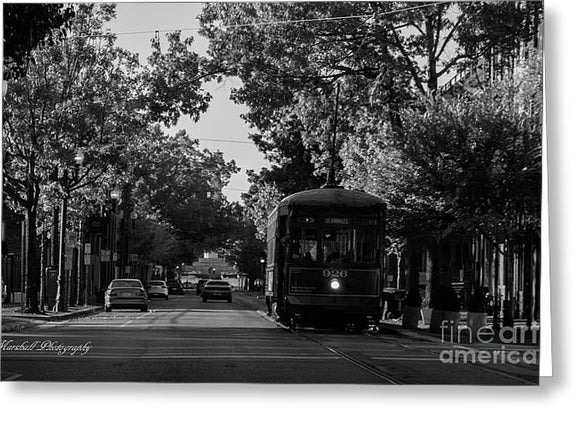 New Orleans Street Car - Greeting Card