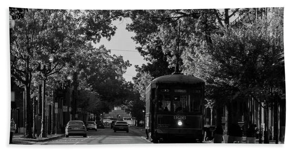New Orleans Street Car - Beach Towel