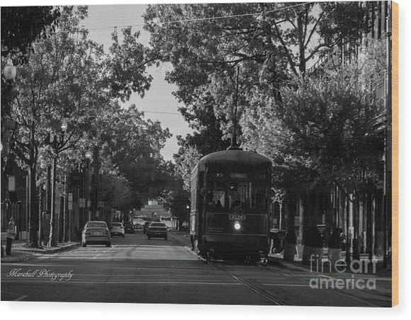 New Orleans Street Car - Wood Print