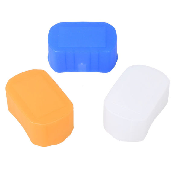 3 Color Soft Cover Flash Bounce Diffuser For Canon Speedlite 600EX 600EX-RT,YONGNUO YN600EX-RT Blue Yellow & White