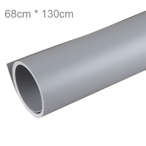 68 x 130cm Grey PVC Material Backgrounds Backdrop Anti-wrinkle for Photo Studio Photography Background Equipment