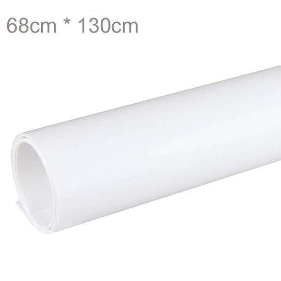 68 x 130cm White PVC Material Anti-wrinkle Backgrounds Backdrop for Photo Studio Photography Background Equipment