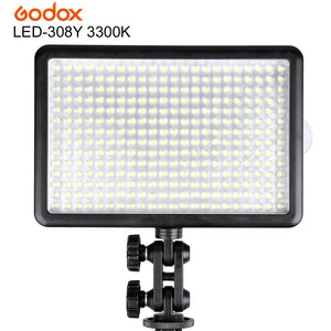 Godox LED308Y 308 3300K Photo Photography LED Video Light Lamp for Sony Panasonic Canon Nikon Video DV Camcorder DSLR Camera