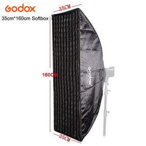 Godox Pro Photo Studio Flash Strobe Softbox Soft Box Diffuser 35x160CM With Honeycomb Grid Bowens Mount