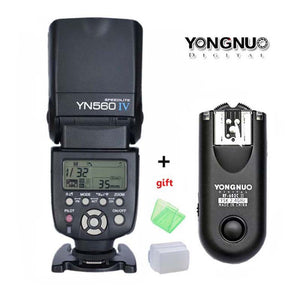 YONGNUO YN560 IV,YN-560 IV Master Radio Flash Speedlite + RF-603 II Wireless Trigger for Nikon Canon 1200D 60D D810 D7200 Camera